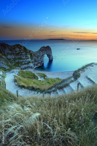 Durdle Door Dorset England Sunset Poster