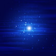 Abstract Binary Code Blue Background
