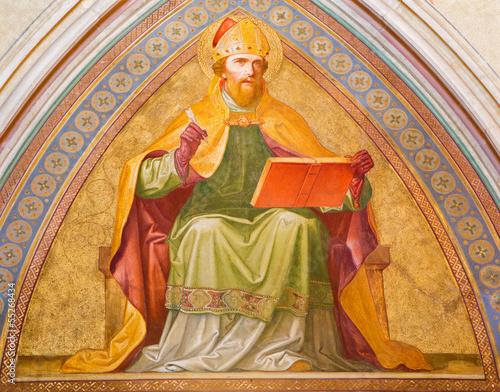 Vienna - Fresco of Saint Augustine Wall mural