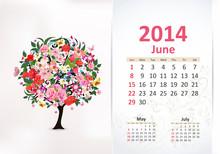Calendar For 2014, June