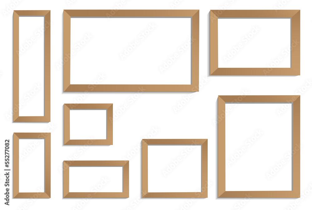 Fototapeta frames bronze - obraz na płótnie