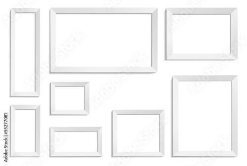 Obraz frames white - fototapety do salonu