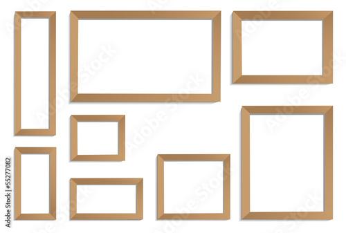 Obraz frames bronze - fototapety do salonu