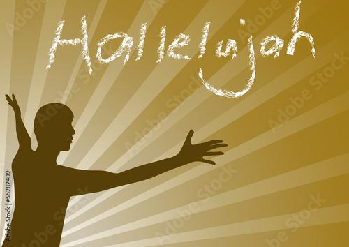 Fotomural Hallelujah Jesus