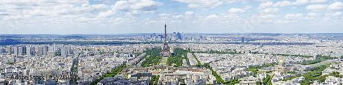 Poster Paris areal panorama view of paris