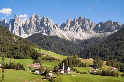 Odle,Val di Funes,Sudtirol,Italia Canvas Print