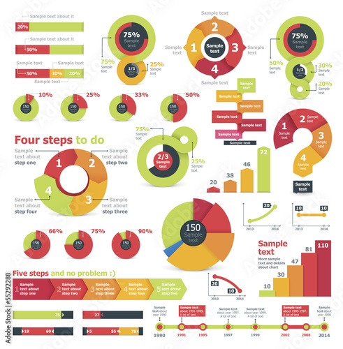 Fotografie, Tablou  Vector infographic elements