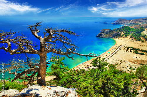Foto-Kissen - fantastic beaches of Greece, Rhodes island