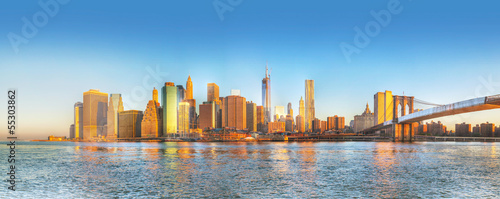Photo New York City panorama in the morning