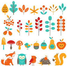 Сute Autumn Design Elements