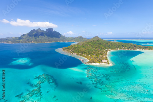 Fotografía french polynesia from helicopter