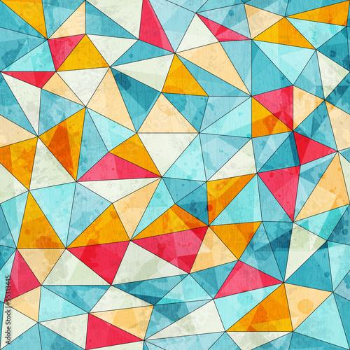 wzor-rocznika-kolorowe-trojkaty-z-moca-grunge