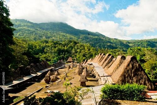 Foto op Plexiglas Indonesië Bena village