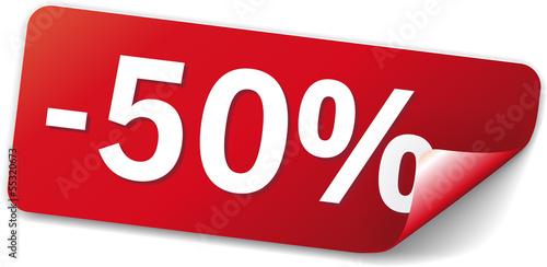 Fotografia  sticker rot -50%