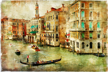 FototapetaVenice -artwork in painting style