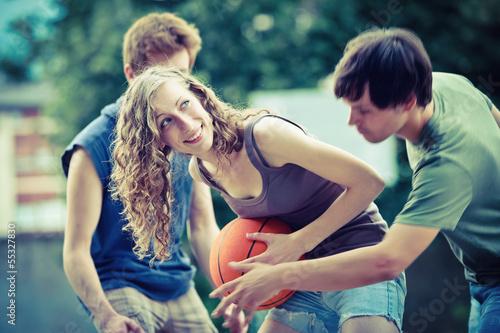 Fotografiet  Street basketball