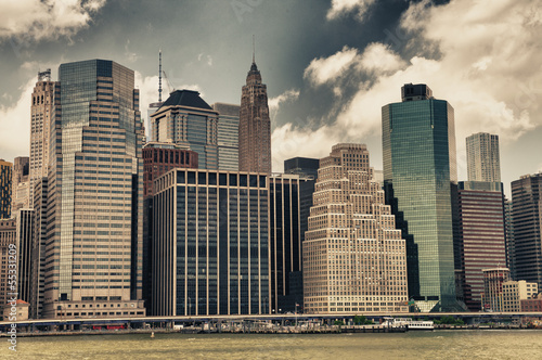 Buildings of Manhattan - New York skyline