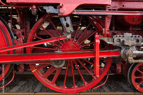 Steam locomotive wheels - Buy this stock photo and explore