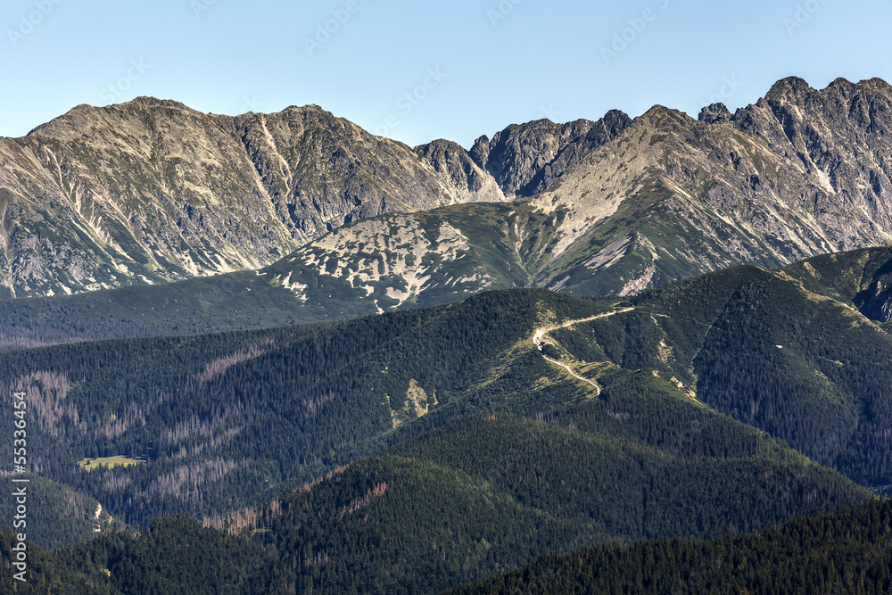 Summer view of the Tatra mountains