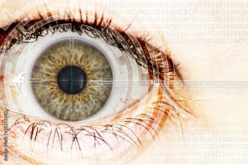 Photo sur Aluminium Iris watching eye