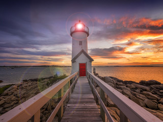 Obraz na Plexi Latarnie Lighthouse in Gloucester, MA. USA