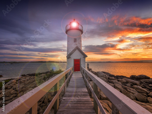 Fototapeta Lighthouse in Gloucester, MA. USA