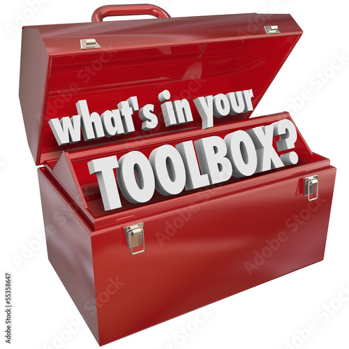 What's In Your Toolbox Red Metal Tool Box Skills Experience