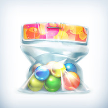 Balls In Small Plastic Bag