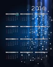 2014 New Year Calendar Vector ...