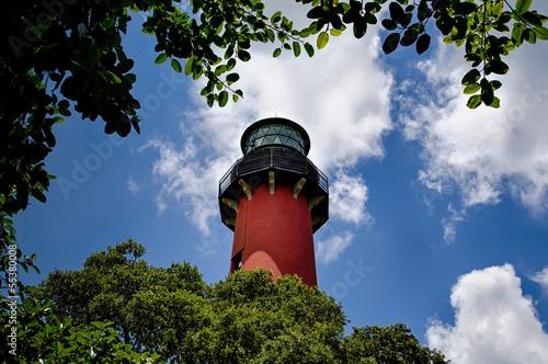 Fotografie, Obraz  Jupiter Lighthouse Through the Trees
