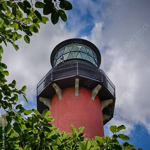 Fotografie, Obraz  Jupiter Lighthouse Lantern Room Through the Trees