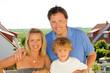 canvas print picture - Junge Familie