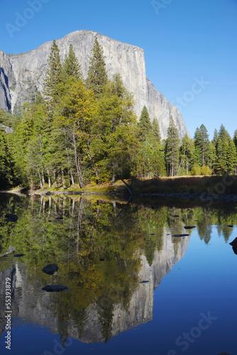 Fotobehang Natuur Park Reflections on the Mirror Lake, Yosemite National Park, Californ