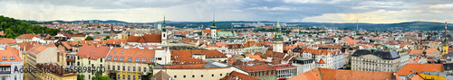 Fotomural  Panorama of Brno, Czech Republic