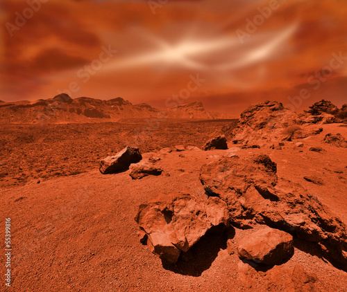 Photo Stands Cuban Red Fantastic martian landscape