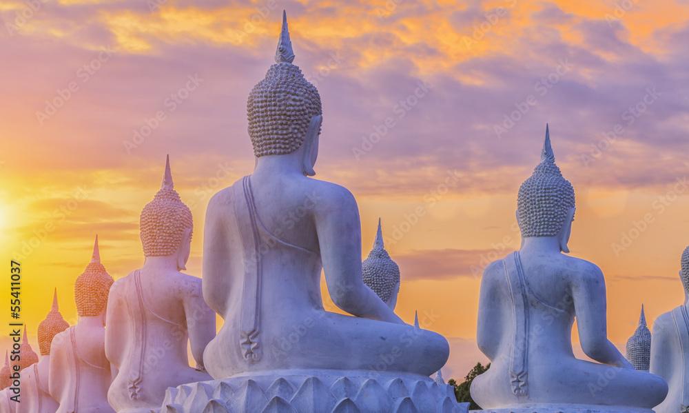 Fototapety, obrazy: Wiele posągów Buddy