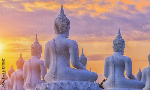 Staande foto Boeddha Many Buddha statue