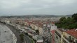Panoramic view city of Nice in France. Time lapse.