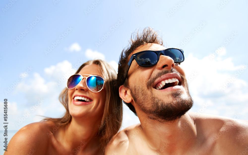 Fototapety, obrazy: Joyful couple