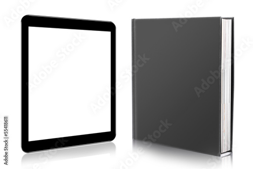 Cuadros en Lienzo e-book reader. book and digital tablet