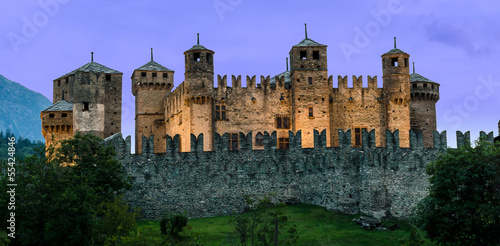 Fenis Castle, Aosta Valley Wallpaper Mural