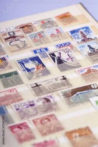 Foto op Aluminium Imagination Briefmarken
