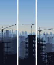 Vertical Banner Of Constructio...