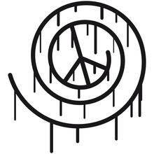 Peace Spiral Graffiti