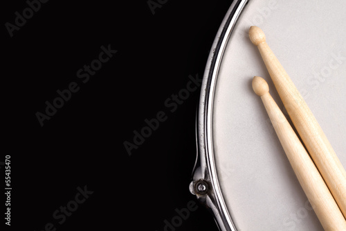 Fotografia Snare drum and drumsticks