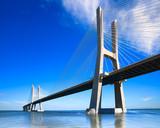 Vasco da Gama bridge, Lisbon, Portugal, Europe.