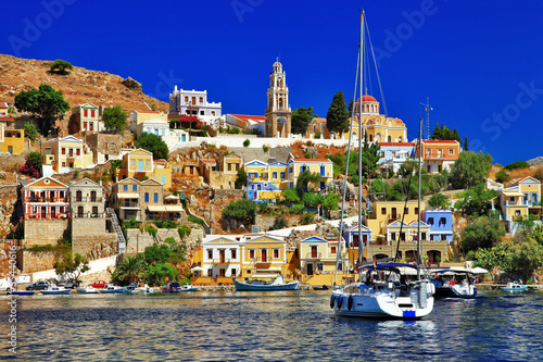 beautiful colorful Symi island, Dodecanese