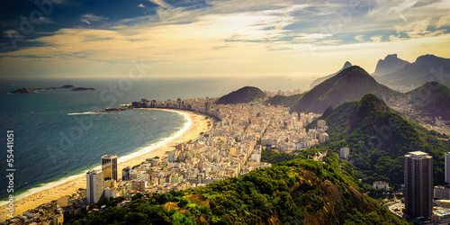 Photo sur Aluminium Brésil Copacabana Beach