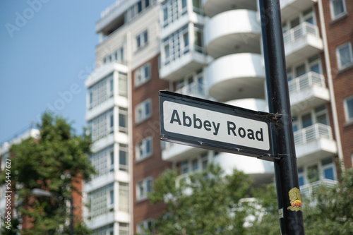 Photo  Abbey Road street sign in Maida Vale, London.