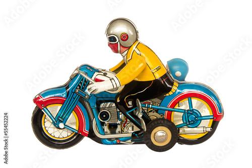 Poster Motocyclette Motercycle tin toy